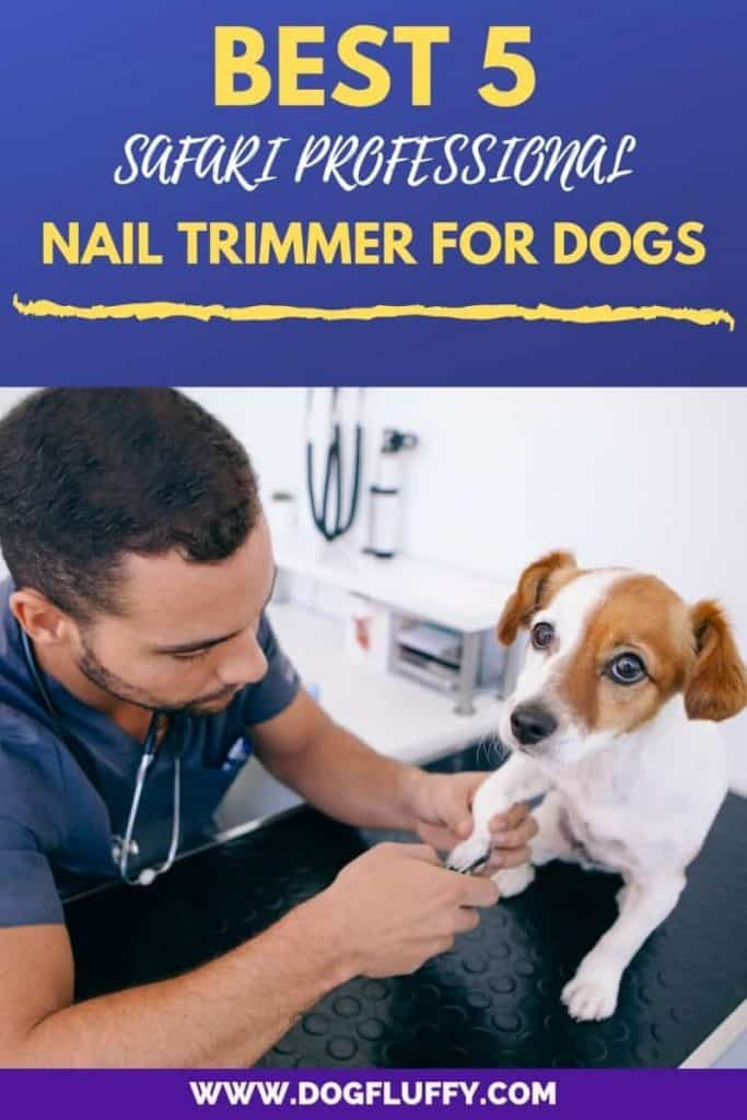 Safari Professional Nail Trimmer for Dogs Pinterest Image